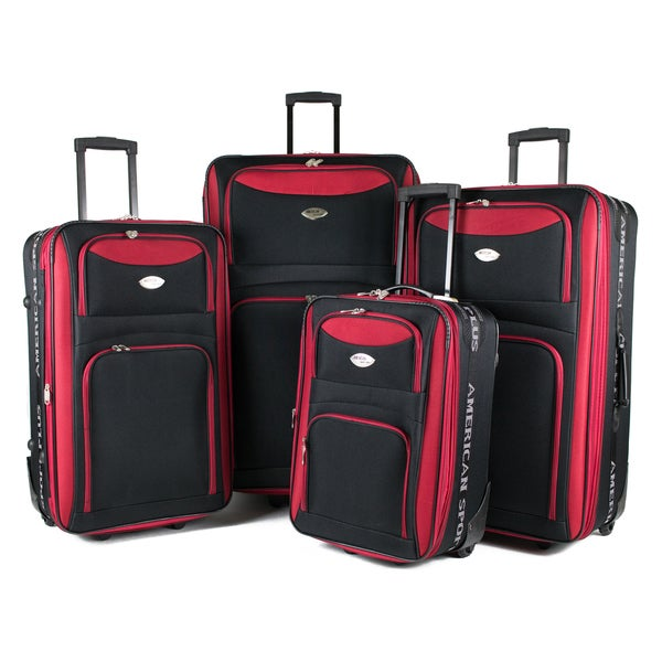 American Sport Plus 4-piece Expandable Rolling Luggage Set