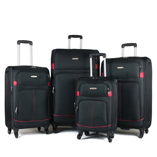 AMKA Bristote 4-piece Expandable Spinner Luggage Set