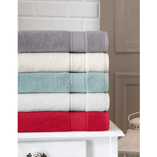 Somette Traditional Soft Turkish Cotton Oversized Bath Towel (Set of 2)