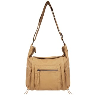 Bueno Washed Faux Lizard Shoulder Handbag