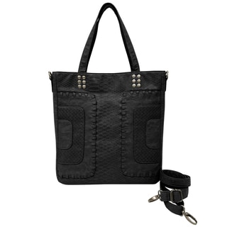 Bueno Washed Whip Stich Panels Crossbody Handbag