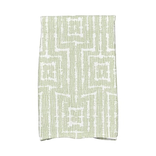 Woven Tiki, Geometric Print Hand Towels