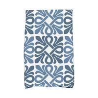 Tiki Square Geometric Print Hand Towels