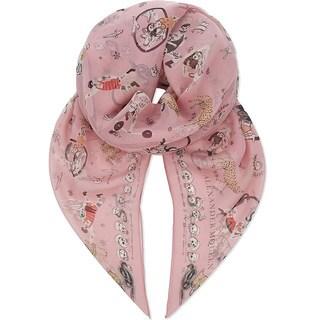 Alexander McQueen Pink Circus Tricks Silk Scarf