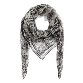 burberry silk scarf outlet k5pu  Alexander Mcqueen Black Loves London Silk Scarf