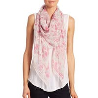 Alexander McQueen Pink Loves London Silk Scarf