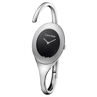 Calvin Klein Women's Embrace Stainless Steel Black Swiss Quartz Watch