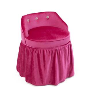 Zooey Girls' Pink Skirted Vanity Chair