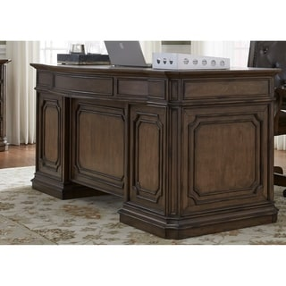 Amelia Antique Toffee Jr. Executive Desk