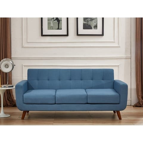 US Pride Furniture Grace Rainbeau Tufted Upholstered Living Room Sofa and Loveseat (Set of 2)
