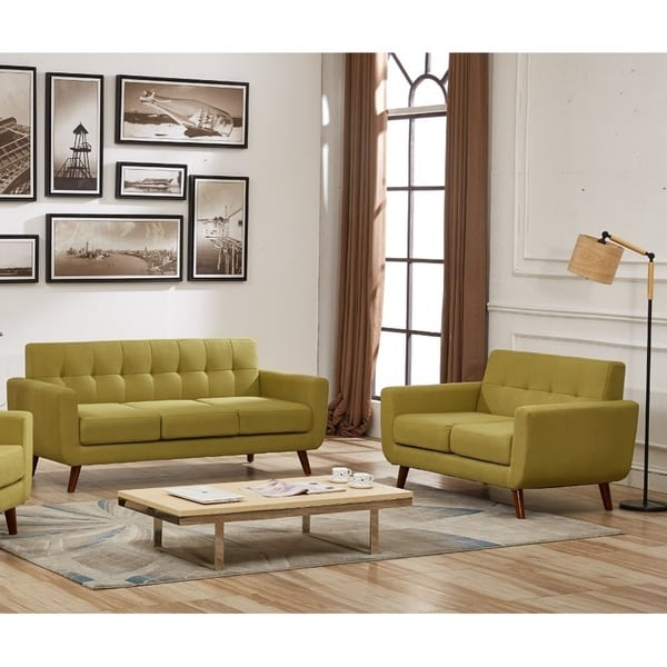 Shop Us Pride Furniture Grace Rainbeau Tufted Upholstered Living Room Sofa And Loveseat Set Of