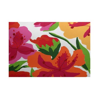 Tropical Floral, Floral Print Indoor/Outdoor Rug