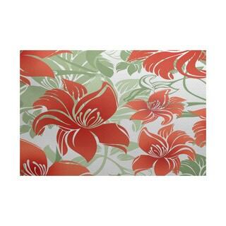 Tree Mallow Floral Print Indoor/Outdoor Rug