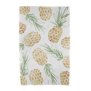 Tossed Pineapples Geometric Print Beach Towels