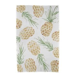 Tossed Pineapples Geometric Print Beach Towels