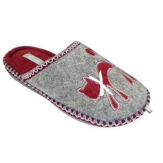 Vecceli Women's Cat Grey Slippers