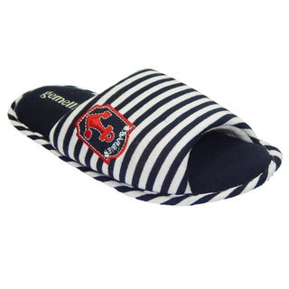 Vecceli Women Blue White Striped Casual Slippers