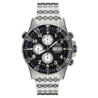 Xezo Air Commando Divers, Pilots Swiss Automatic Valjoux 7750 Chronograph Watch, Anti-Reflective Sapphire. 45 mm Diameter