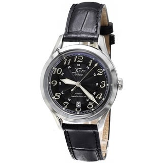 Xezo Tribune Retro Style Miyota 9015 Automatic Unisex Watch. Luminous Markers, Hands. Classic 39 mm Case with Serial