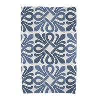 Tiki Square, Geometric Print Beach Towels