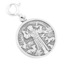 Sterling Silver St Francis of Assisi Charm