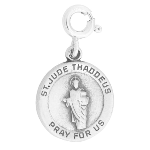 Sterling Silver St Jude Thaddeus Pray For Us Charm