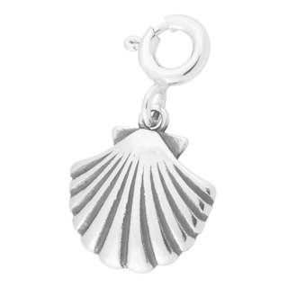 Sterling Silver Clamshell Charm
