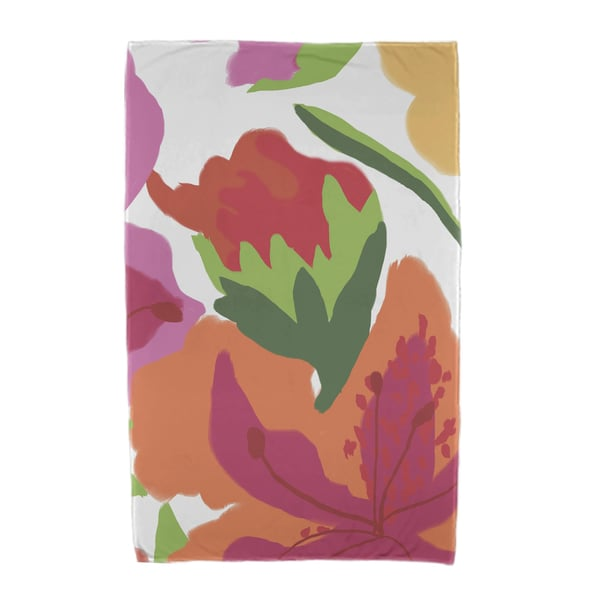 Tropical Floral Floral Print Beach Towels
