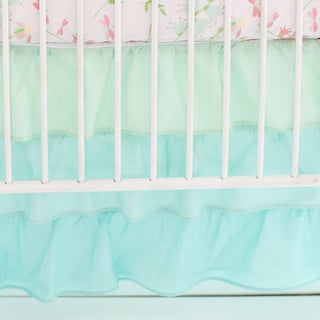 My Baby Sam Ombre Mint Ruffled Nursery Skirt