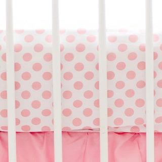 My Baby Sam Coral Polka Dot Crib Sheet