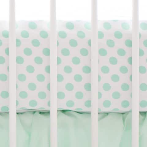 My Baby Sam Mint Polka Dot Crib Sheet