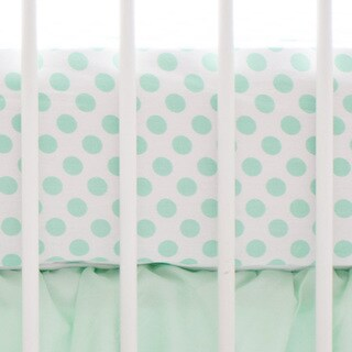 My Baby Sam Mint Polka Dot Crib Sheet