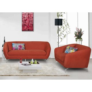 Modern Metropolitan Linen Fabric Upholstery Sofa and Loveseat Set (2pc)