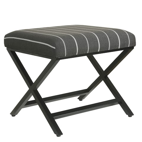 Porch & Den Boucher Modern Metal X-base Ottoman