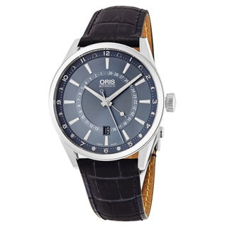 Oris Men's 761 7691 4085 LS 'Artix Tycho Brahe' Blue Dial Blue Leather Strap Limited Edition Swiss Automatic Watch