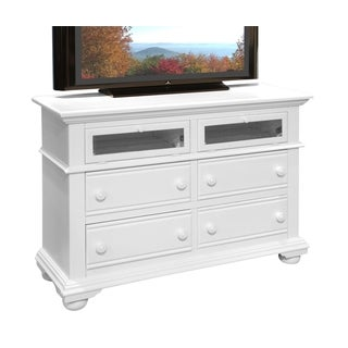 Beachcrest Antique/ White Finish Wood 4-drawer Entertainment Unit by Greyson Living