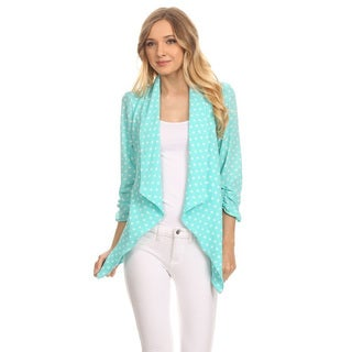 Women's Blue Polka Dot Cardigan