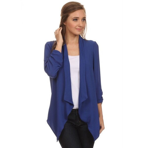 Women's Solid Loose Fit Open Cardigan