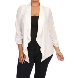 Women's Plus Size Solid Cardigan