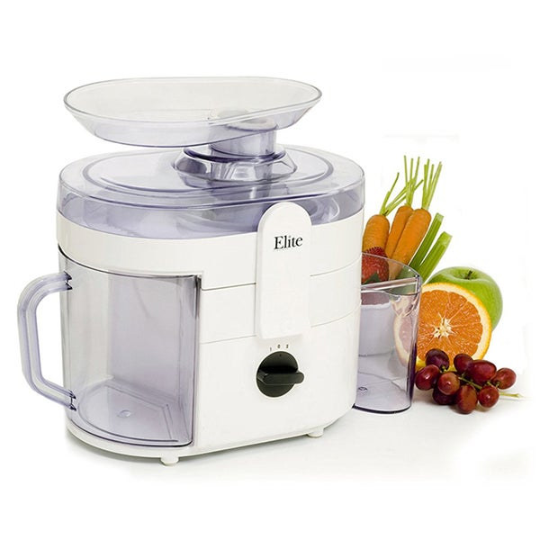 Elite Gourmet MaxiMatic 250 Watt Juice Extractor (White) EJX-8700