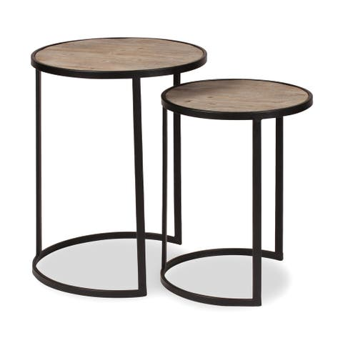 Kate and Laurel Gracen Metal and Wood Nesting Tables