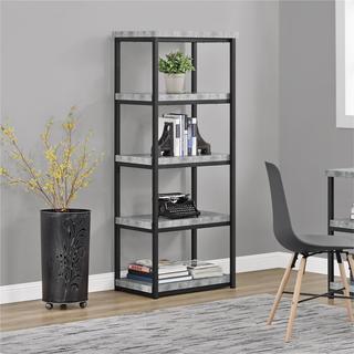 Ameriwood Home Ashlar Concrete Grey Bookcase
