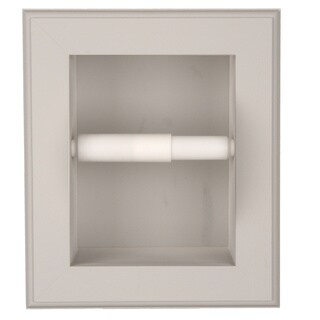 Solid Wood Recessed in wall Bathroom Toilet Paper Holder-Multiple Finishes (3 options available)