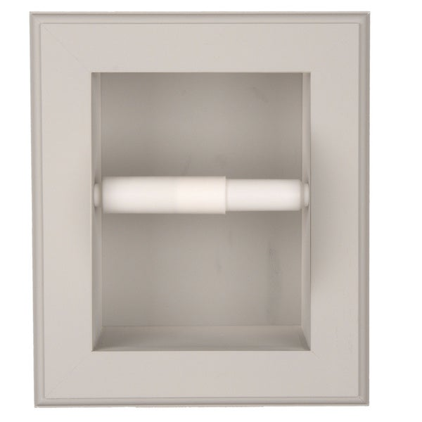 Solid Wood Recessed in wall Bathroom Toilet Paper Holder-Multiple Finishes