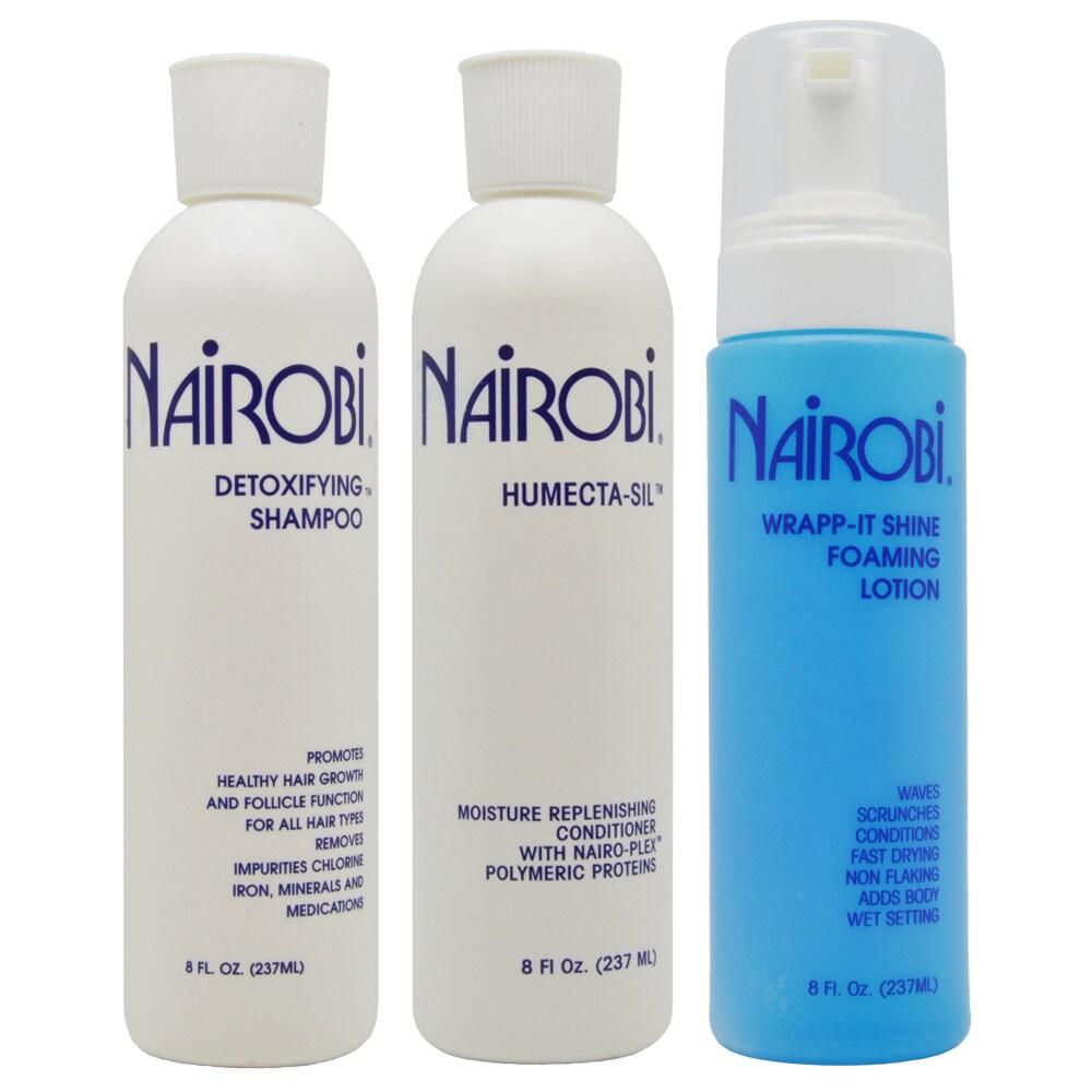 Nairobi 8-ounce Detoxifying Shampoo & Humecta-Sil Conditi...