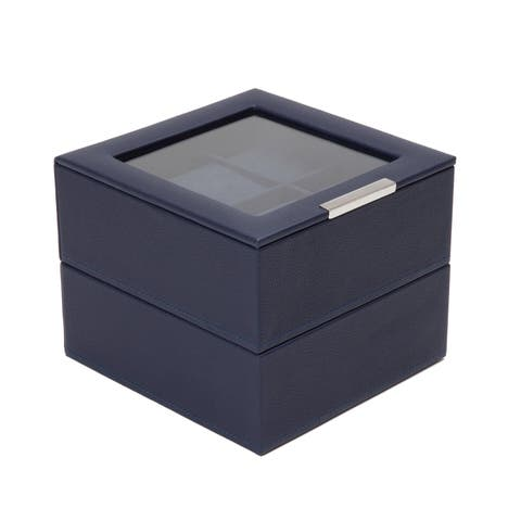 WOLF Stackable Set of 2 - 6 Piece Watch Trays