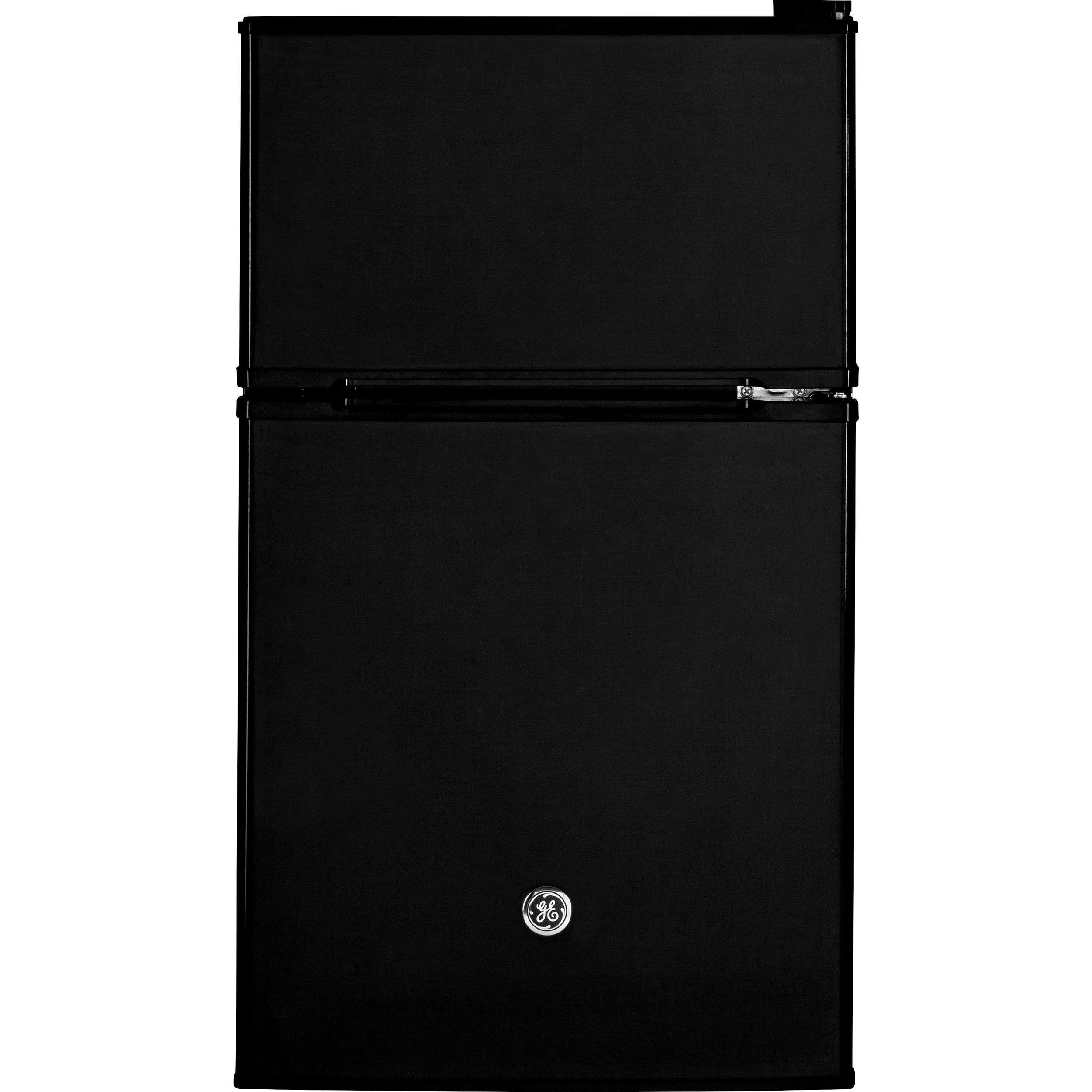 GE Black Double-Door Compact Refrigerator