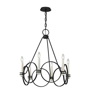 Troy Lighting Juliette 6-light Country Iron Chandelier - Silver