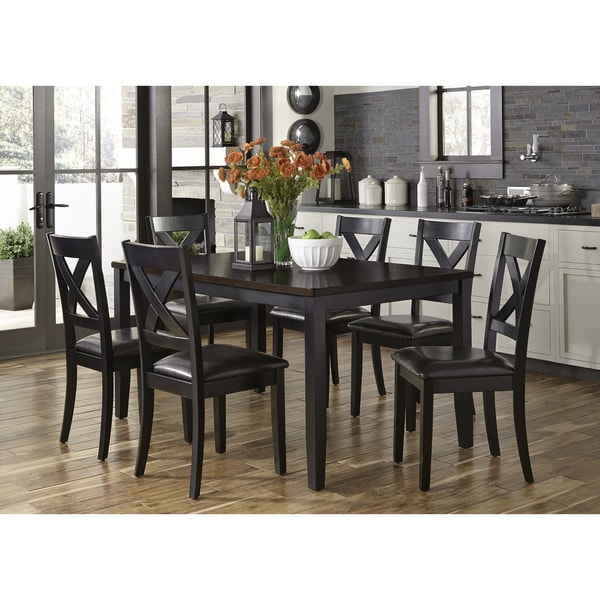 7 piece dinette set devonwood black thornton ii black and brown 7piece dinette set shop free shipping