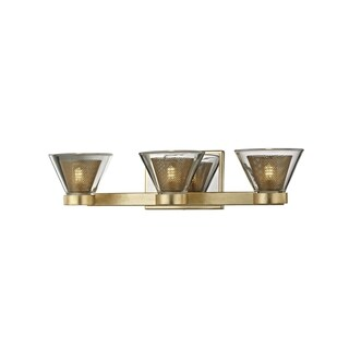Troy Lighting Wink 3-light Gold Leaf/Polished Chrome Accents LED Bath/Wall Sconce